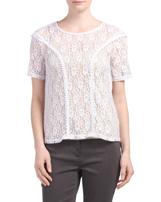 Lace Short Sleeve Tee