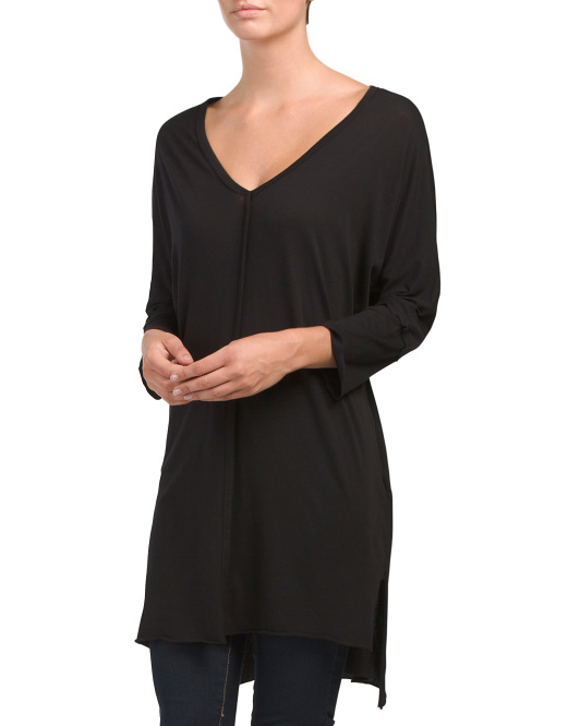 Made In USA Sappho Oversized Seamed Top
