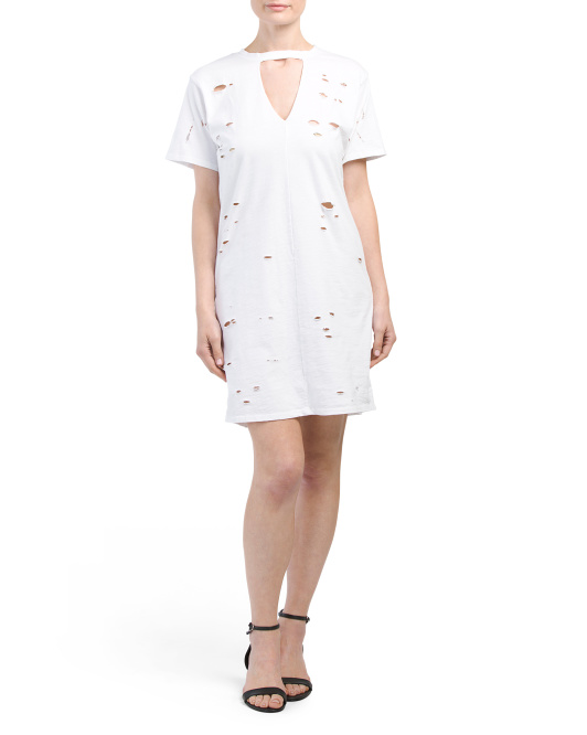 Made In USA Chocker T Shirt Dress