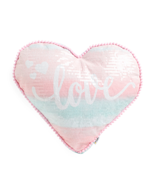 Kids 15x17 Love Heart Pillow