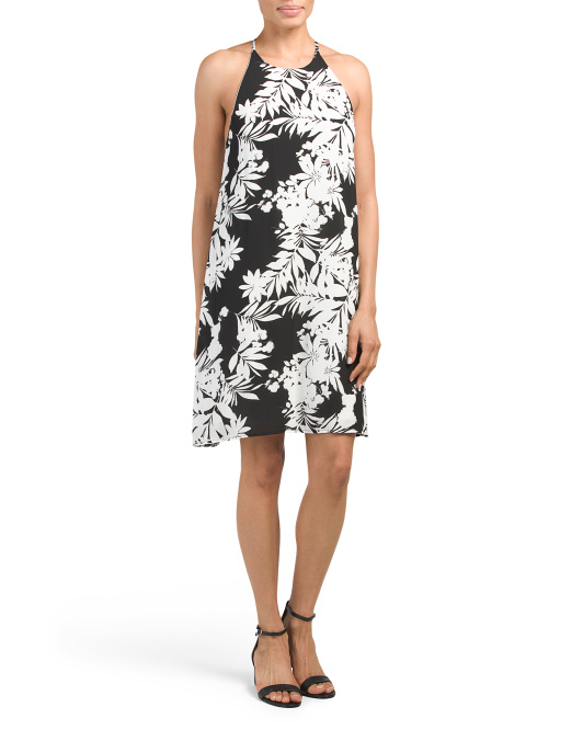 Juniors Made In USA Palm Print Shift Dress