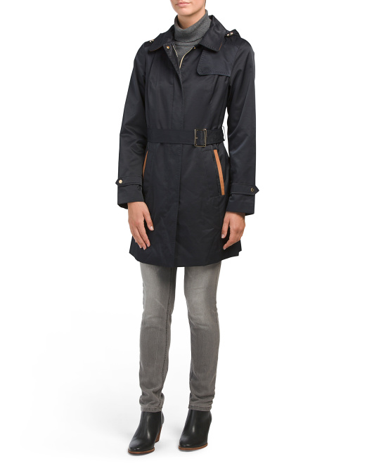 Trench Coat With Detachable Hood