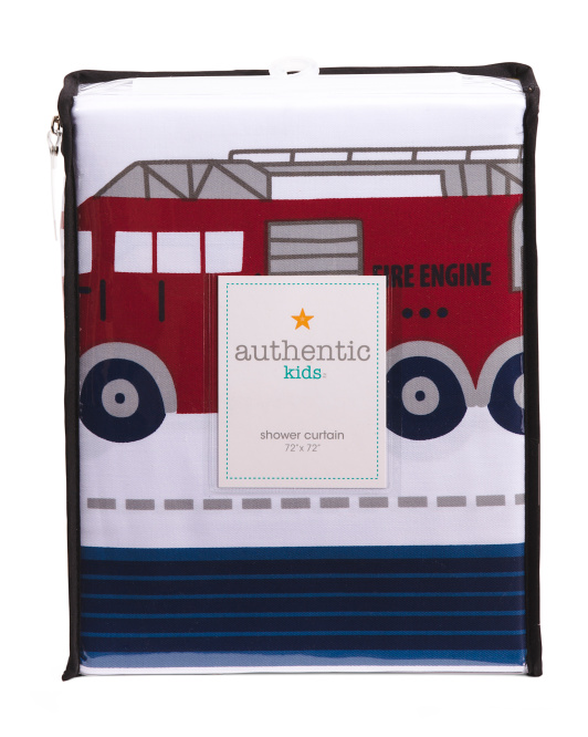 Kids Emergency Vehicles Shower Curtain