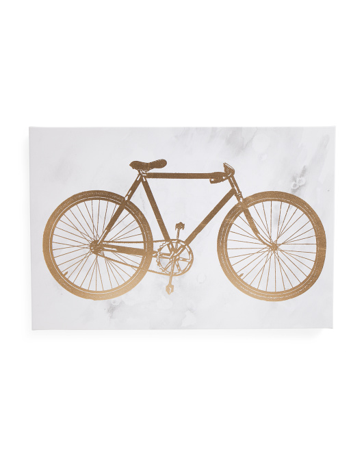 24x16 Bicycle Canvas Wall Art