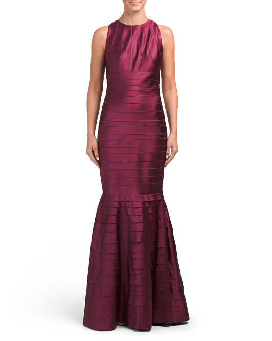 Banded Gown With Mermaid Hem
