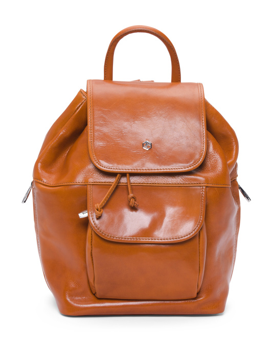 Made In Italy Vachetta Leather Backpack