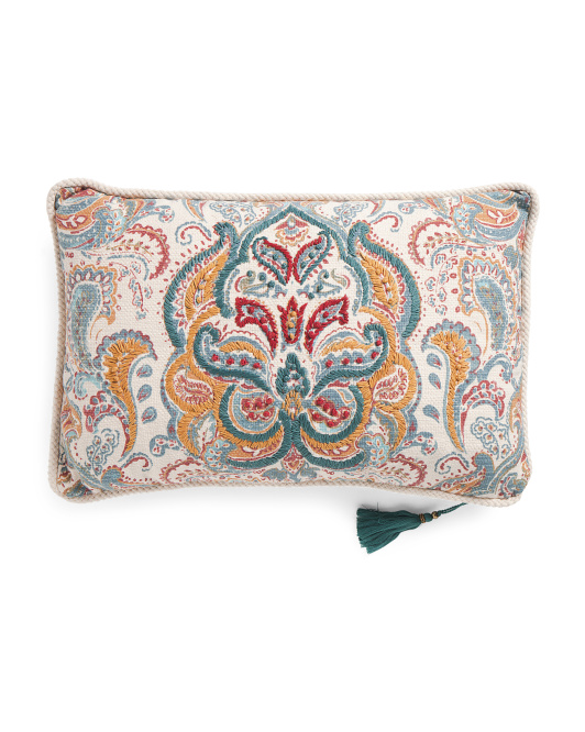 Made In India 16x24 Genevieve Reversible Pillow