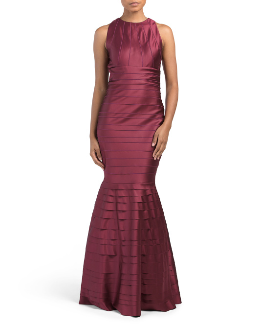 Banded Gown With Mermaid Bottom