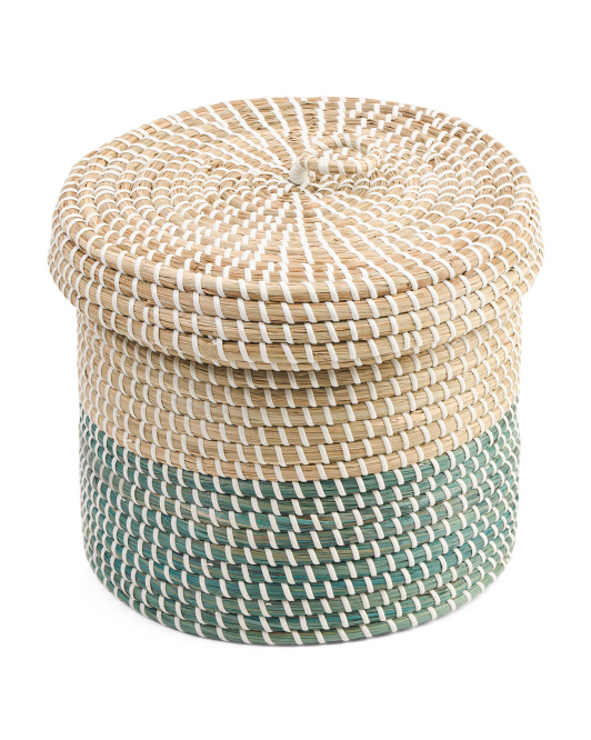 Medium Dipped Seagrass Storage Basket