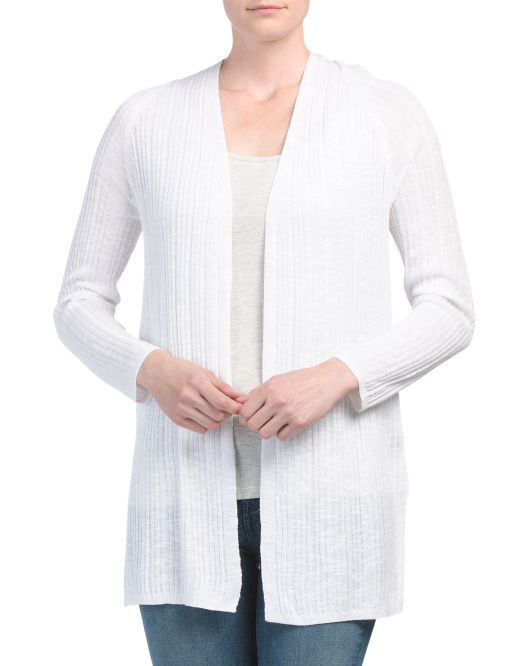 Slub Open Cardigan