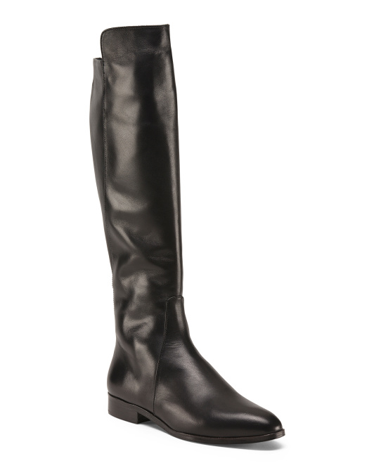 Made In Spain Knee High Leather Boots