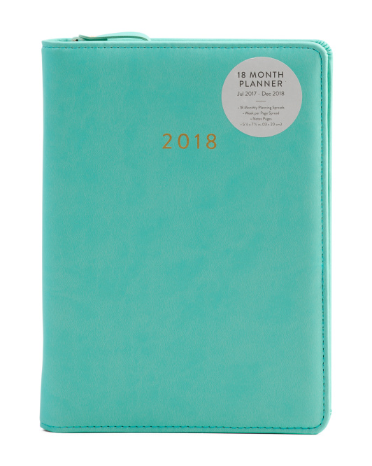 Zippered 2017/2018 Academic Agenda