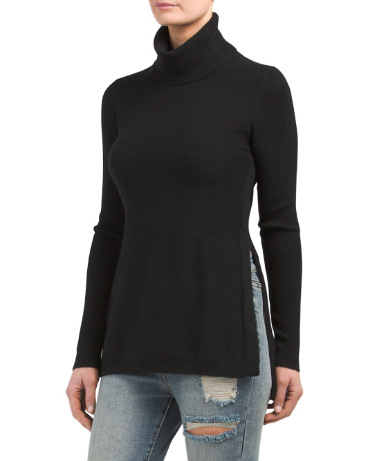 Slouchy Turtleneck Cashmere Sweater