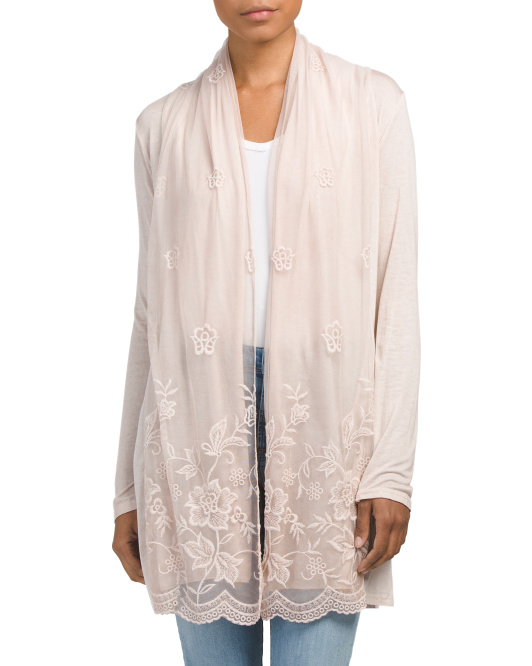 Made In Italy Drape Front Cardigan