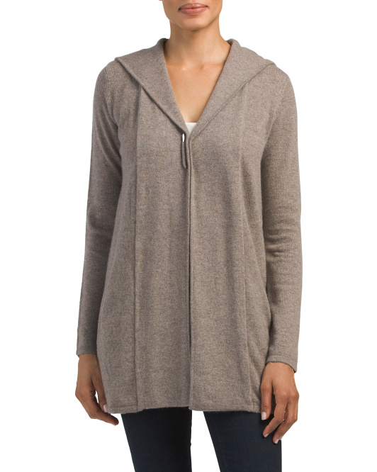 Cashmere Cardigan With Pin Closure