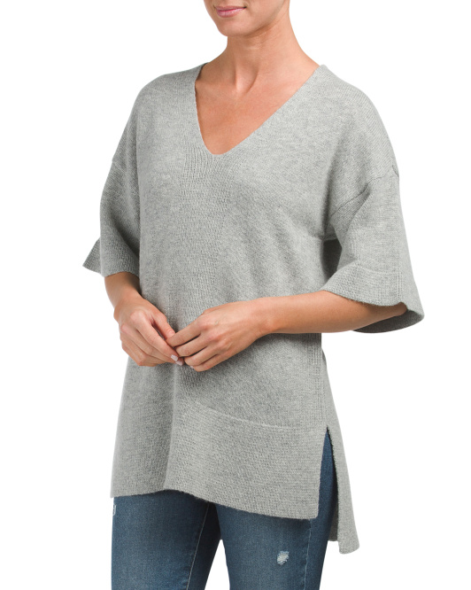 Boxy Wool Tunic Sweater