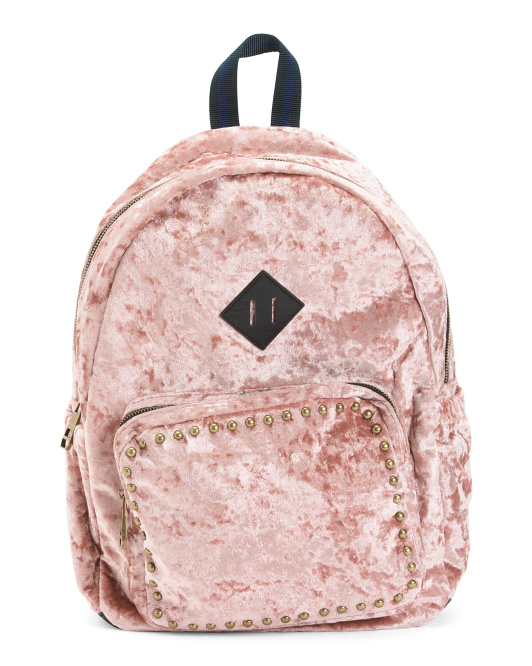 Crushed Velvet Backpack