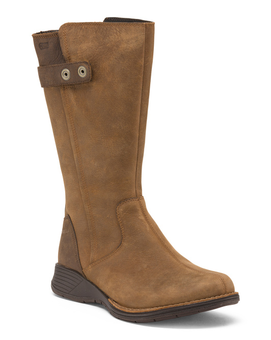 Travvy Tall Waterproof Leather Boots