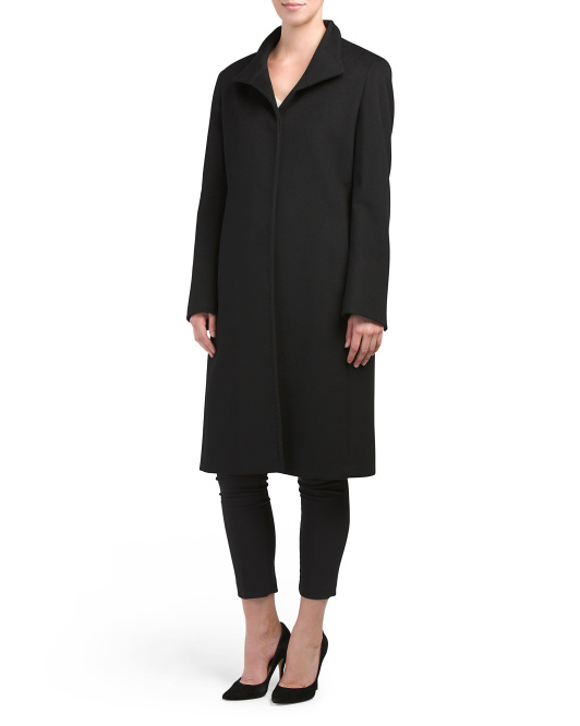 Made In Italy Cashmere Button Front Coat