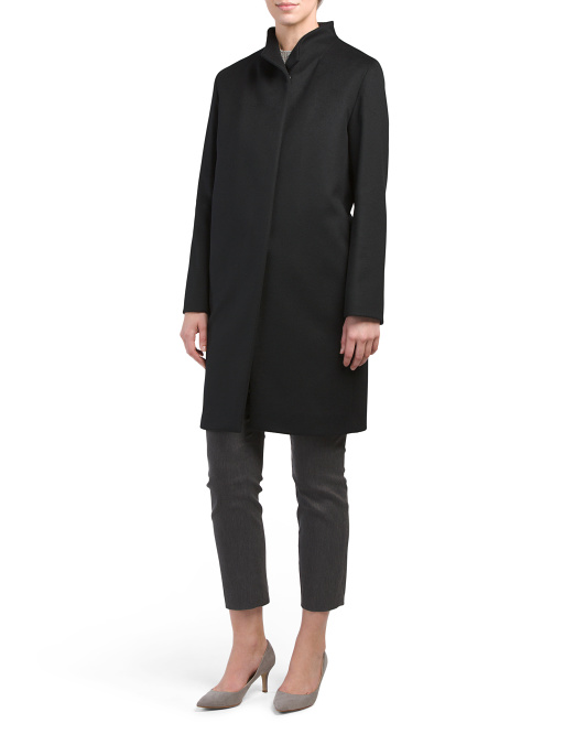 Made In Italy Cashmere Stand Collar Coat