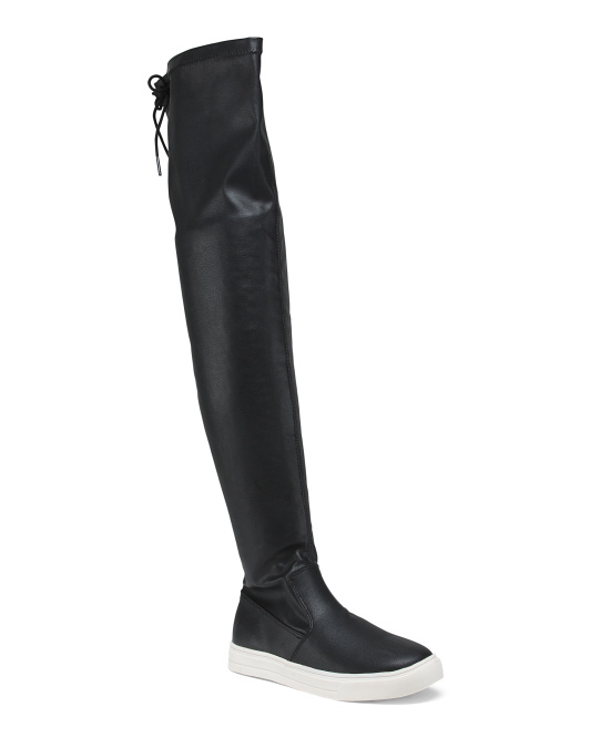Thigh High Stretch Sneaker Boots