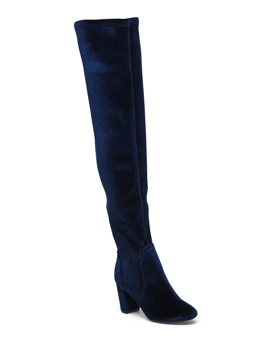 Thigh High Neoprene Backing Stretch Boots