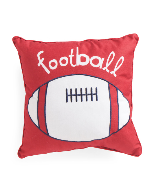 Kids 17x17 Reversible Football Pillow