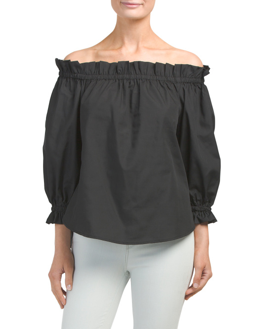 Made In Usa Paperbag Off The Shoulder Top