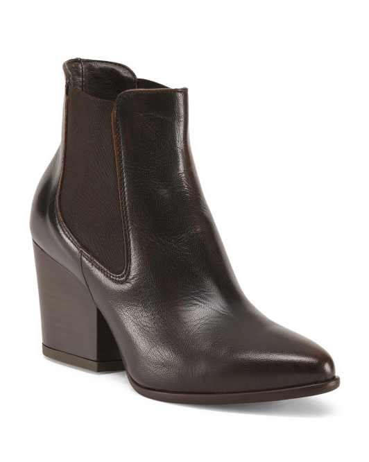 Made In Italy Chelsea Leather Boots