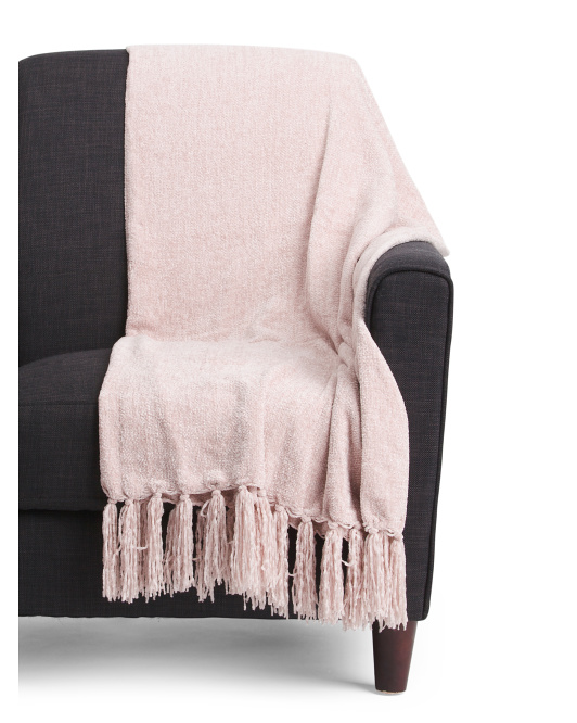 Cece Solid Chenille Throw