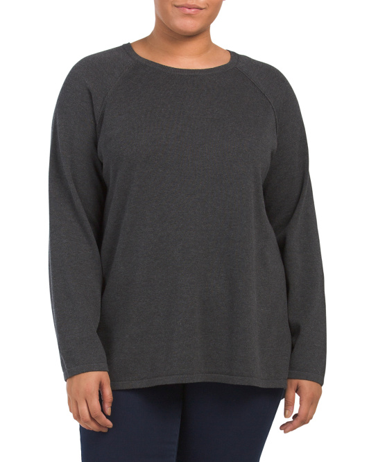 Plus Hi-lo Pullover Sweater