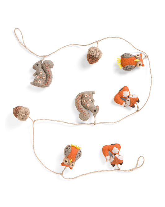 Made In India 6ft Boiled Wool Fall Animals Garland
