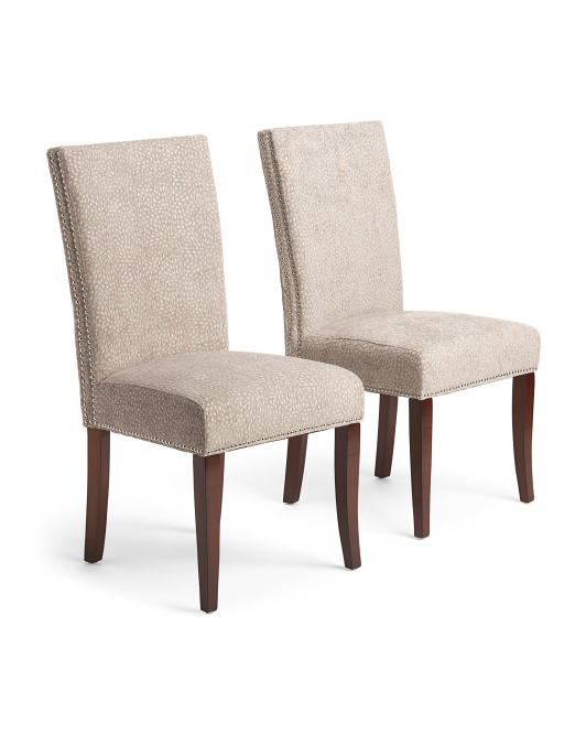 Set Of 2 Double Nailhead Chairs