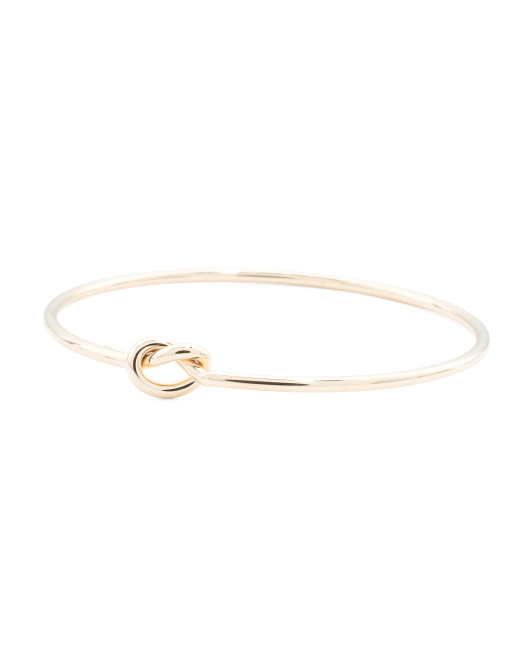 Made In Italy 14k Gold Love Knot Bangle Bracelet
