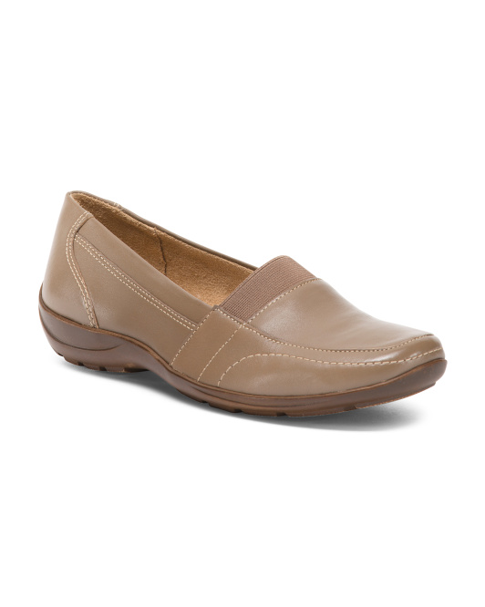 Wide Step In Leather Loafers