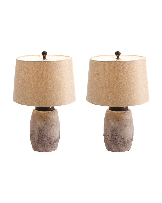 Set Of 2 Rustic Table Lamps
