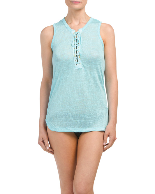 Lace Up Cover-up Tank