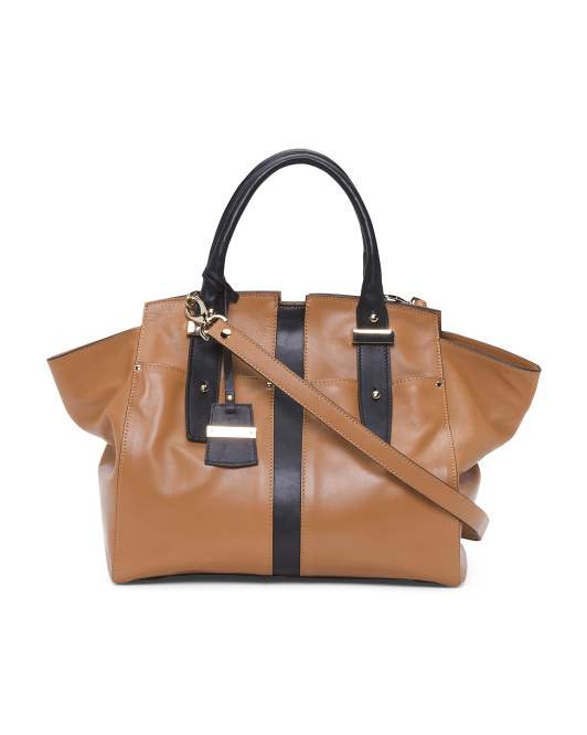 Made In Italy Leather Wing Tote