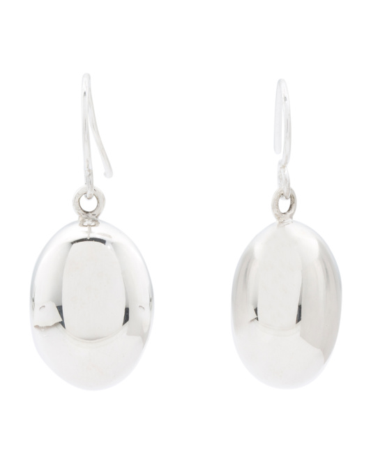 Made In Mexico Sterling Silver Polished Drop Earrings