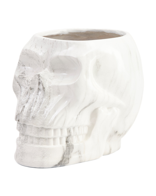 14in Marbleized Skull Candy Holder