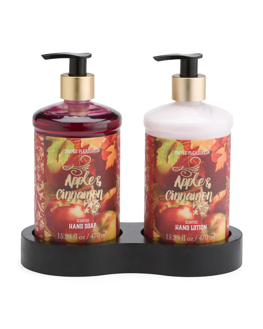 3pc Apple Cinnamon Caddy Bath Set