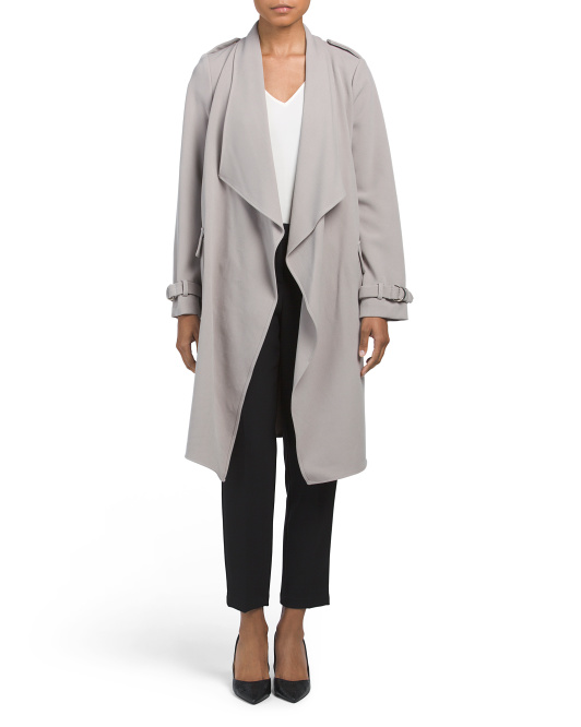 Water Repellent Cascade Trench Coat
