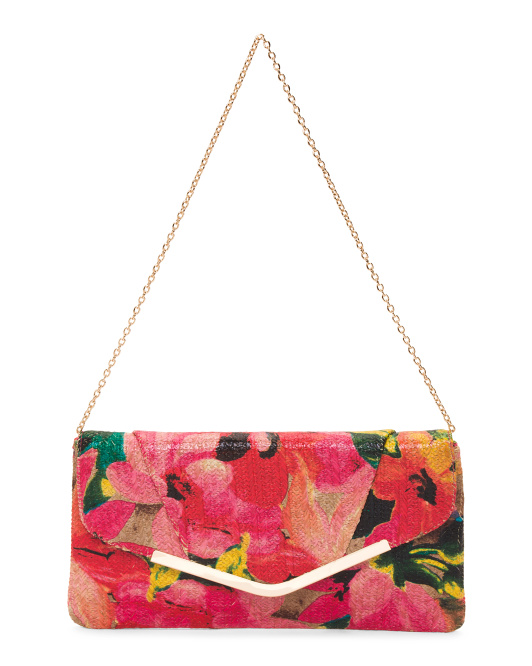 Bright Floral Clutch