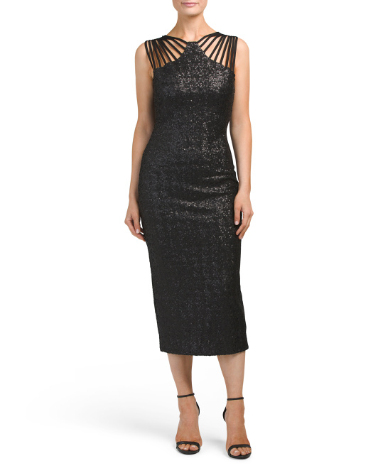 Made In USA Gwen Sequin Midi Dress