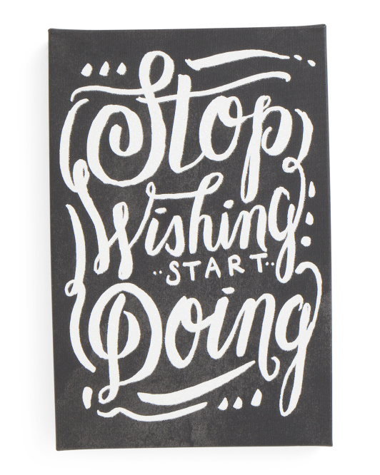 10x15 Start Doing Glitter Canvas Art