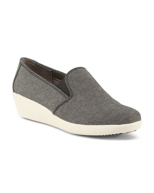 Wide Twin Gore Canvas Athleisure Shoes