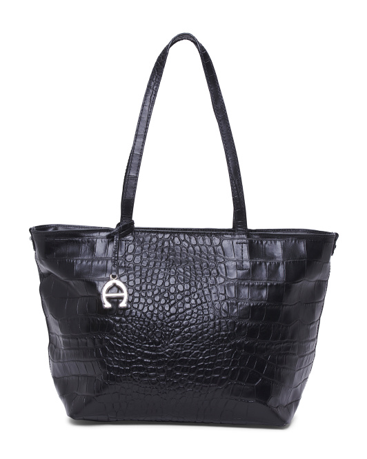 Leather Turner Tote