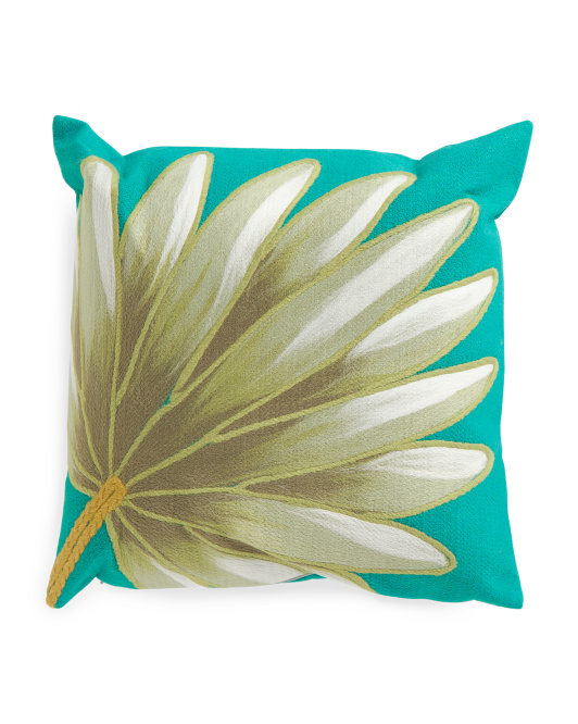 Indoor Outdoor Palm Fan Pillow