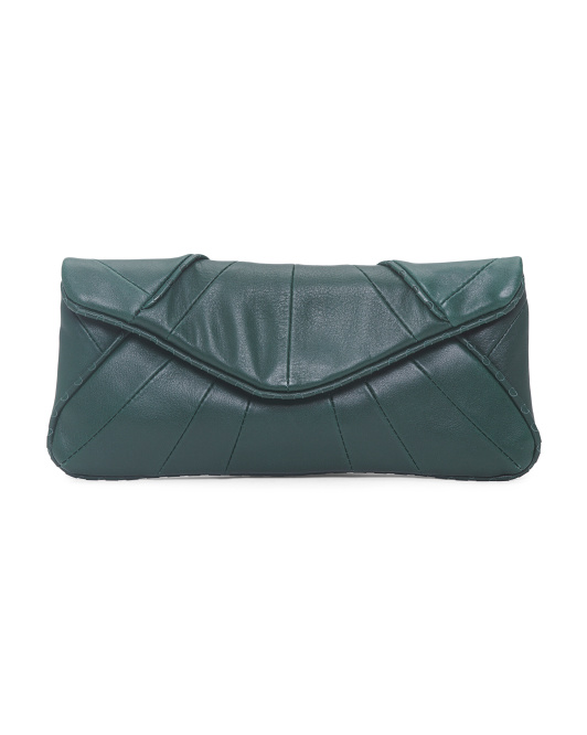 Flap Envelope Leather Bag