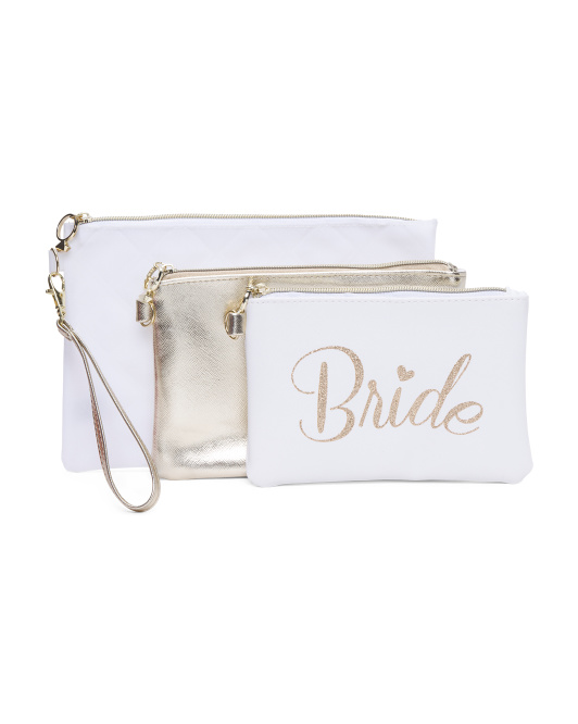 Set Of 3 Bride Pouches